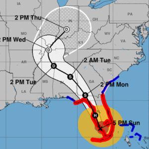 Hurricane Irma landfall on Florida from NHC.