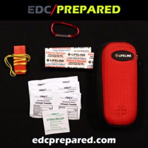 A first aid kit.